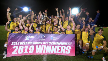 The Junior Wallabies made light work of New Zealand in the final of New Zealand in the Oceania Under-20s Championship on the Gold Coast.