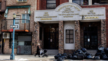 The Yeshiva Kehilath Yakov School, where a measles outbreak caused by an unvaccinated child infected more than 20 people, in Brooklyn, New York.