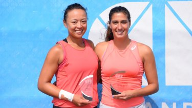 Alison Bai and Jaimee Fourlis teamed up to win the ACT Clay Court International doubles title.