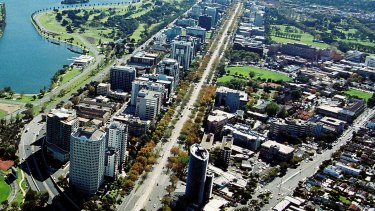 Part of St Kilda Road will be cut to one lane each way for the next four years.