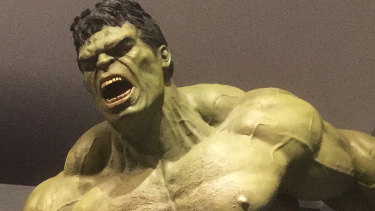 The Hulk at the 2017 Marvel exhibition at the Gallery of Modern Art.