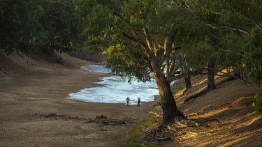 The Darling River at Louth, in Far West NSW, in February last year.
