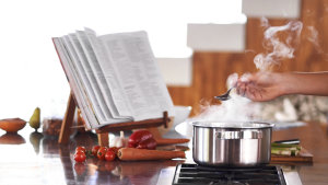 Cookbooks are said to be more pleasurable than searching for  recipes online.
