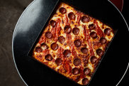 Connie's, the pizza bar inside Heartbreaker Bar in Melbourne, has launched a range of square pizzas during lockdown.