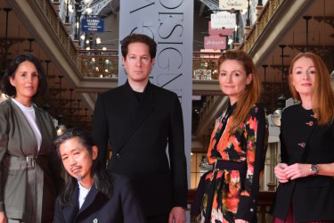 The Strand designers for Life and Leisure. From left: Mary Lou (Bassike ), Akira Isogawa (Akira), Marc Freeman (Camilla&Marc), Genevieve Smart and Alex Smart (Ginger and Smart)