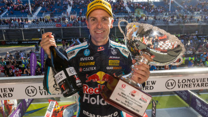 Seven-time Supercars champion dedicates win 'to Holden'