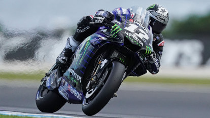 Vinales on top in practice as wild winds whip Phillip Island