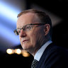 Aussie dollar slips sharply after RBA chief changes tack on rates