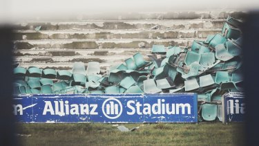 Thousands of seats at Allianz Stadium have been removed as part of early demolition works.