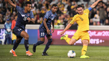 Leadership qualities: PFA chief executive John Didulica singled out Mark Milligan for special praise.