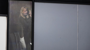 A woman locked in the Ariele Apartments due to the COVID-19 outbreak.