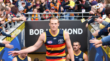 Ruck and roll: Adelaide's Sam Jacobs is leaving the South Australian club.