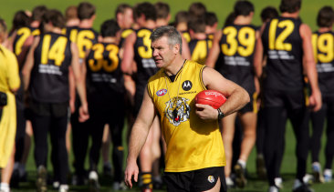 Danny Frawley at Richmond training in 2004.