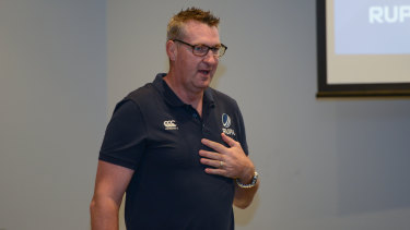 World Cup-winning Wallaby and RUPA boss Justin Harrison.