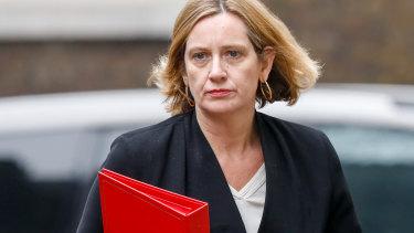 Britain's Home Secretary Amber Rudd.