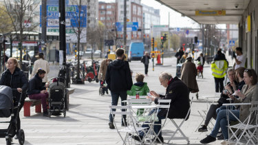 Sweden's economy shrank by just 0.3 per cent in the first three months of 2020, a far smaller decline than most forecasters and its central bank expected.