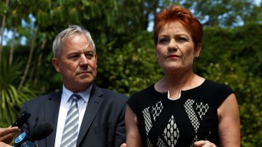 WA's One Nation leader Colin Tincknell with Pauline Hanson.