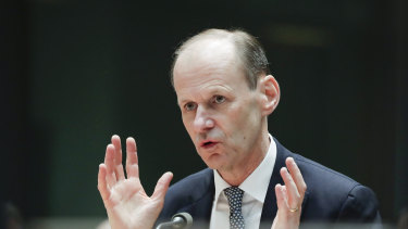 """ANZ is """"ready to lend"""": CEO Shayne Elliott  at the public hearing before the House Economics Committee."""