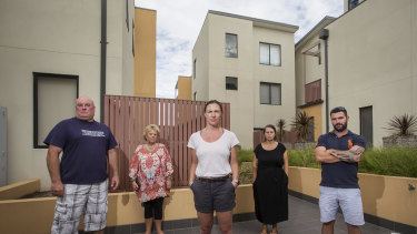 Residents of the Frankston South building that Kamran Zand Basiri worked on.
