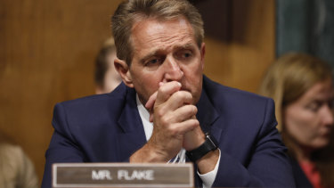 Republican Senator Jeff Flake made a dramatic last minute intervention, asking for an FBI investigation.