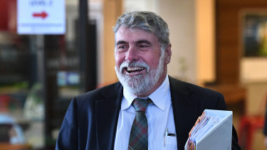 Allan Sutherland outside the Crime and Corruption Commission in 2017.