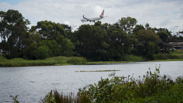 The engine pond at Sydney Airport.
