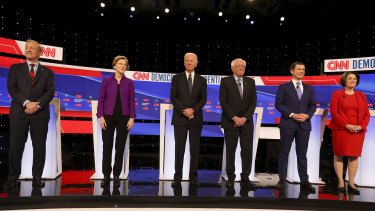 Six Democratic presidential candidates spoke at the first debate of 2020.