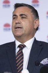 Acting NSW Premier John Barilaro on Monday.