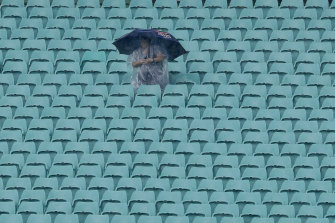 Sign of the times: rain is heading for Sydney as COVID-19 fears are set to keep stadiums empty around the country.