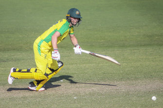 Meg Lanning during Saturday's win over New Zealand.