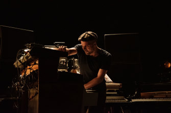 Nils Frahm shifts from self-deprecating to intensely focused when the music starts.