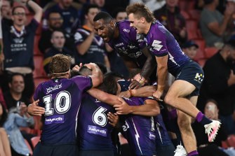 Andrew Johns reckons the Melbourne Storm will be the first side into the NRL grand final.