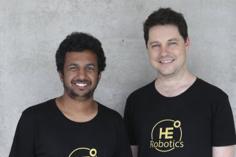 High Earth Orbit Robotics chief technical officer Hiranya Jayakody and chief executive William Crowe.