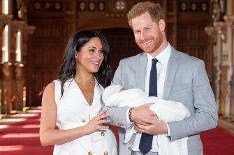 Meghan and Harry with their first born, Archie.