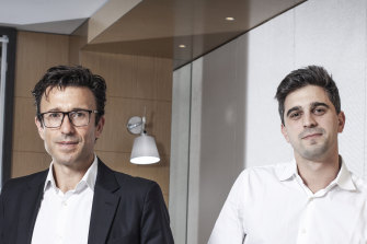 Afterpay founders Anthony Eisen (left) and Nick Molnar will stay on with the business.