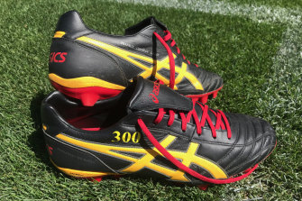 Johnathan Thurston's boots for auction.