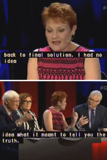 Please explain: Hanson said she had no idea what the term 'final solution' meant.