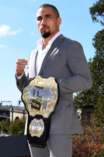 UFC champion Robert Whittaker will keep his belt regardless of the result.