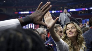 Gisele Bündchen, wife of New England Patriots quarterback Tom Brady, after the Patriots won the 2019 Super Bowl.