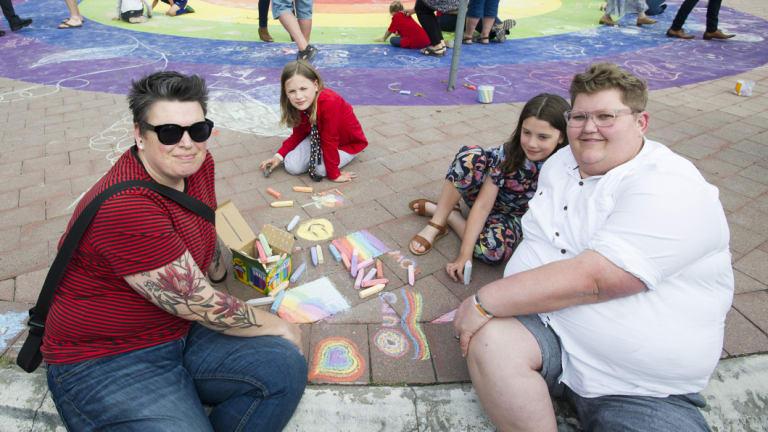 Sam Tyler with Elliott, Mita and Sue Webeck.