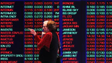 Australian shares were buoyed by a Wall Street surge on Tuesday.