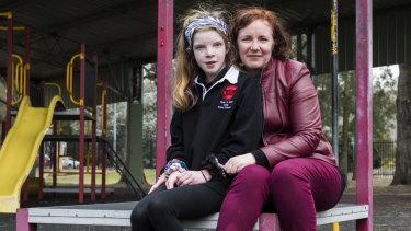 Rebecca Davey with her 12 year old daughter Molly Browne, says the decision is case of discrimination