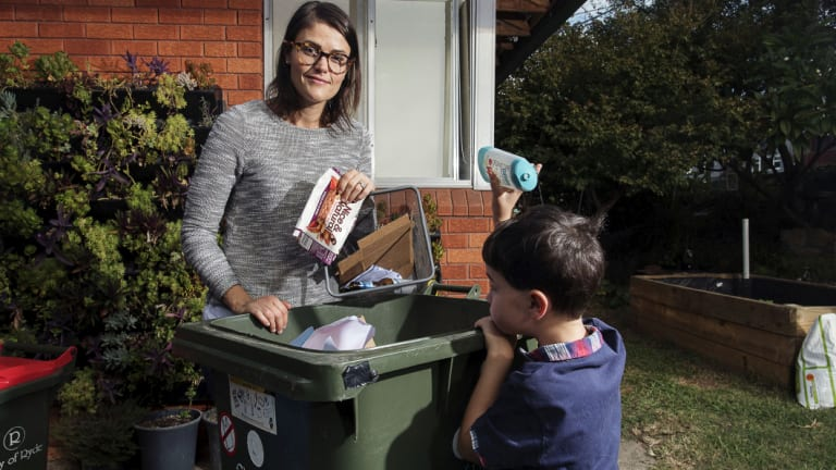 "Jo Taranto, pictured with son William, said her family were ""passionate"" recyclers."
