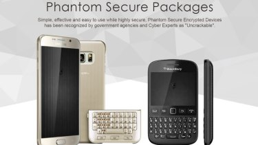 """Phantom Secure offered modified Blackberry and Android devices they said were """"uncrackable""""."""