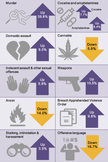 NSW crime: Domestic violence, murder on the rise, report shows