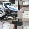 Man jailed after crashing into police cars with 260kg of drugs in van