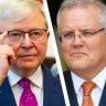 'For God's sake': Rudd says PM unfit for job after Liberal Party bushfire ad