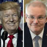 Donald Trump considered US tariffs on Australia