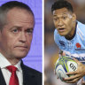 Folau 'shouldn't suffer an employment penalty' for views, Shorten says