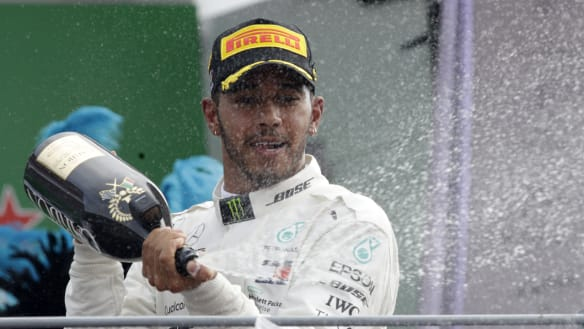 Lewis Hamilton equals Michael Schumacher's record with win in Italy